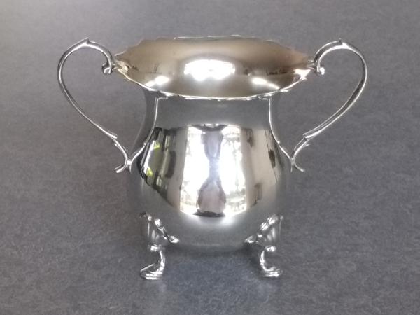 sterling silver sugar bowl polished