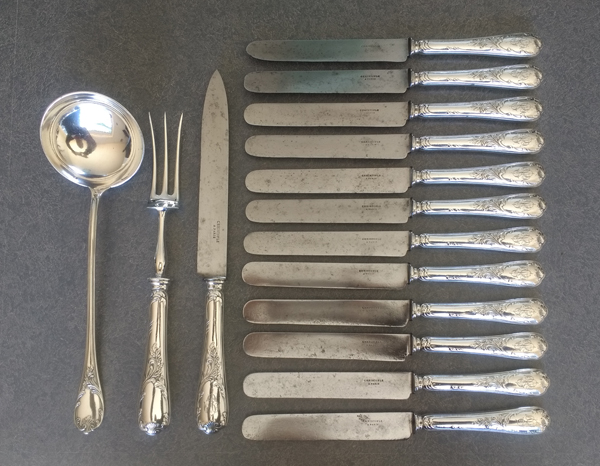 Antique Christofle Knives with the blades polished