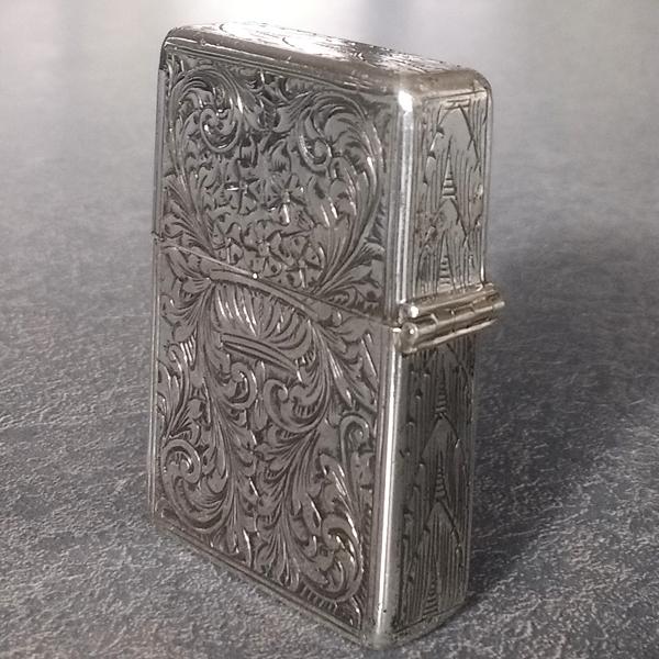 Sterling silver cigarette lighter hinge rebuilt restored