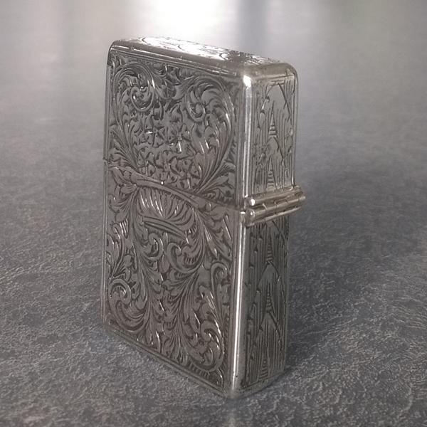 sterling silver cigarette lighter hinge rebuilt