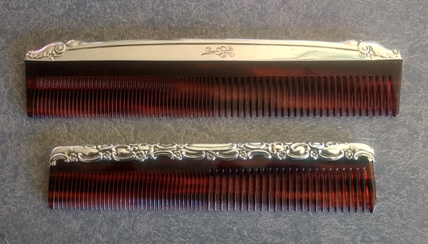 sterling silver comb fitters with new tortiseshell plastic