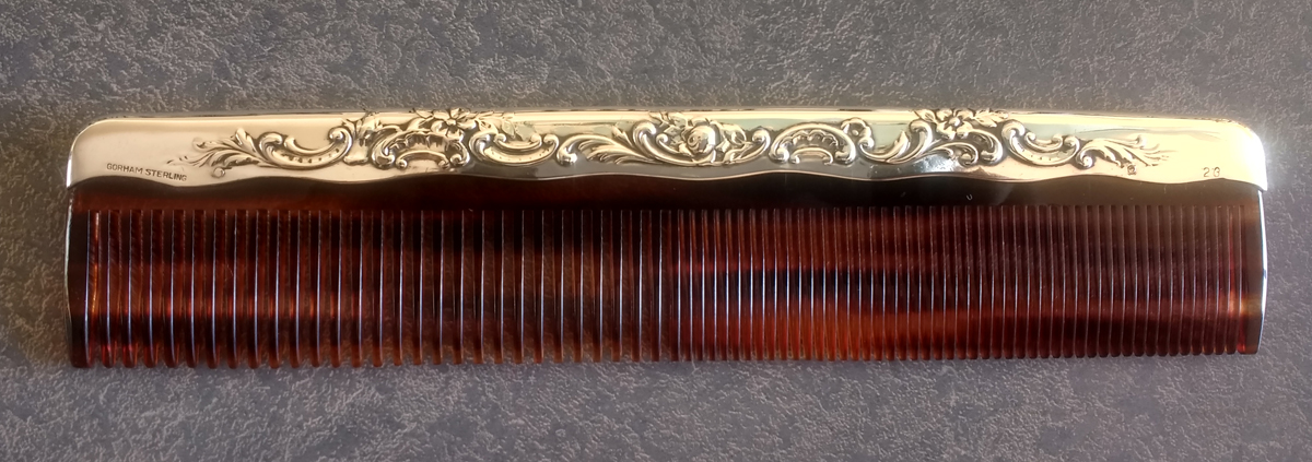 Endless variety of antique sterling silver comb fitter