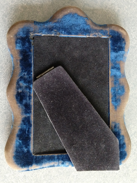 picture frame fabric worn and faded