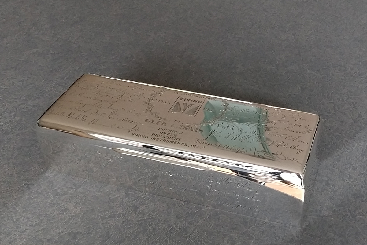 Sterling silver box with signatures polished