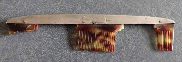 sterling silver comb fitter tarnished with broken comb