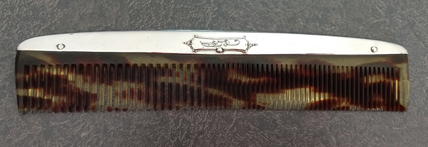 sterling silver comb fitter tortoiseshell plastic comb replaced