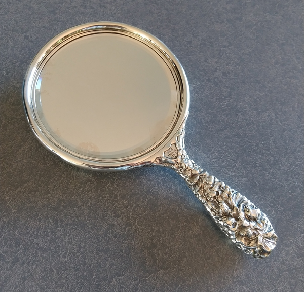 sterling silver mirror with re-silvered mirror