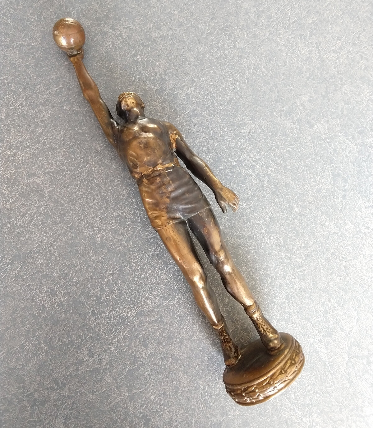 Athletic Figure Trophy basketball player repaired