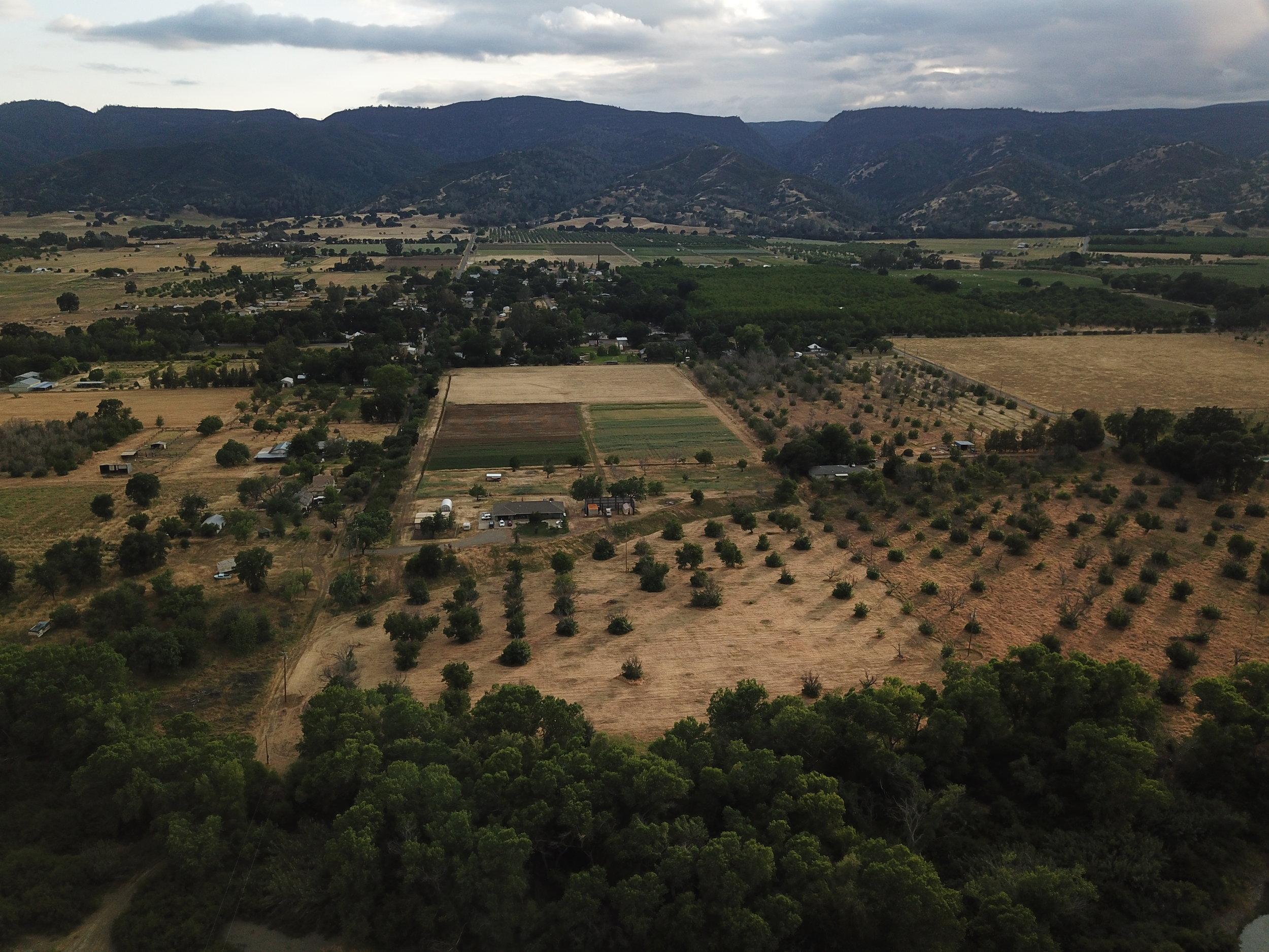 Aerial view of Sun Tracker Farm