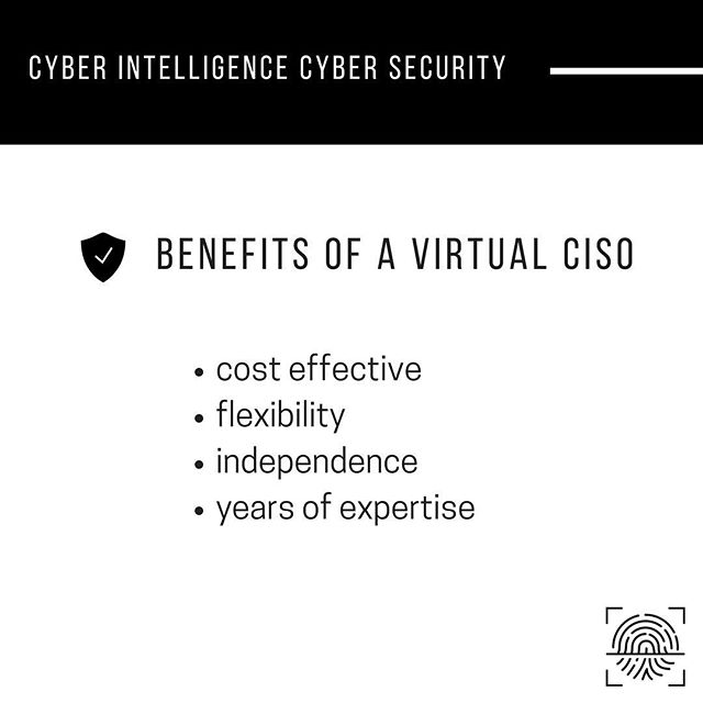 A vCISO (Virtual Chief Information Security Officer) brings years of information security expertise at your organization's convenience. Need annual security planning? Strategy and goals? Other advisory inputs? Let us help you. #cybersecurity #security
