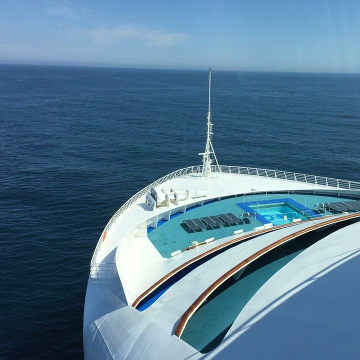 At sea, Sea Princess, Atlantic Ocean by Kevin Nansett for The Doubtful Traveller