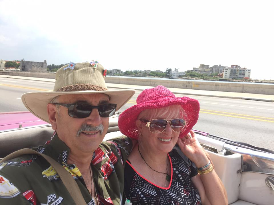 Kevin and Vonda Nansett - Roving contributors, pictured in Havana, Cuba. They travel A LOT. Kevin and Vonda did an amazing round-the-world cruise in 2017. You can read the highlights here.