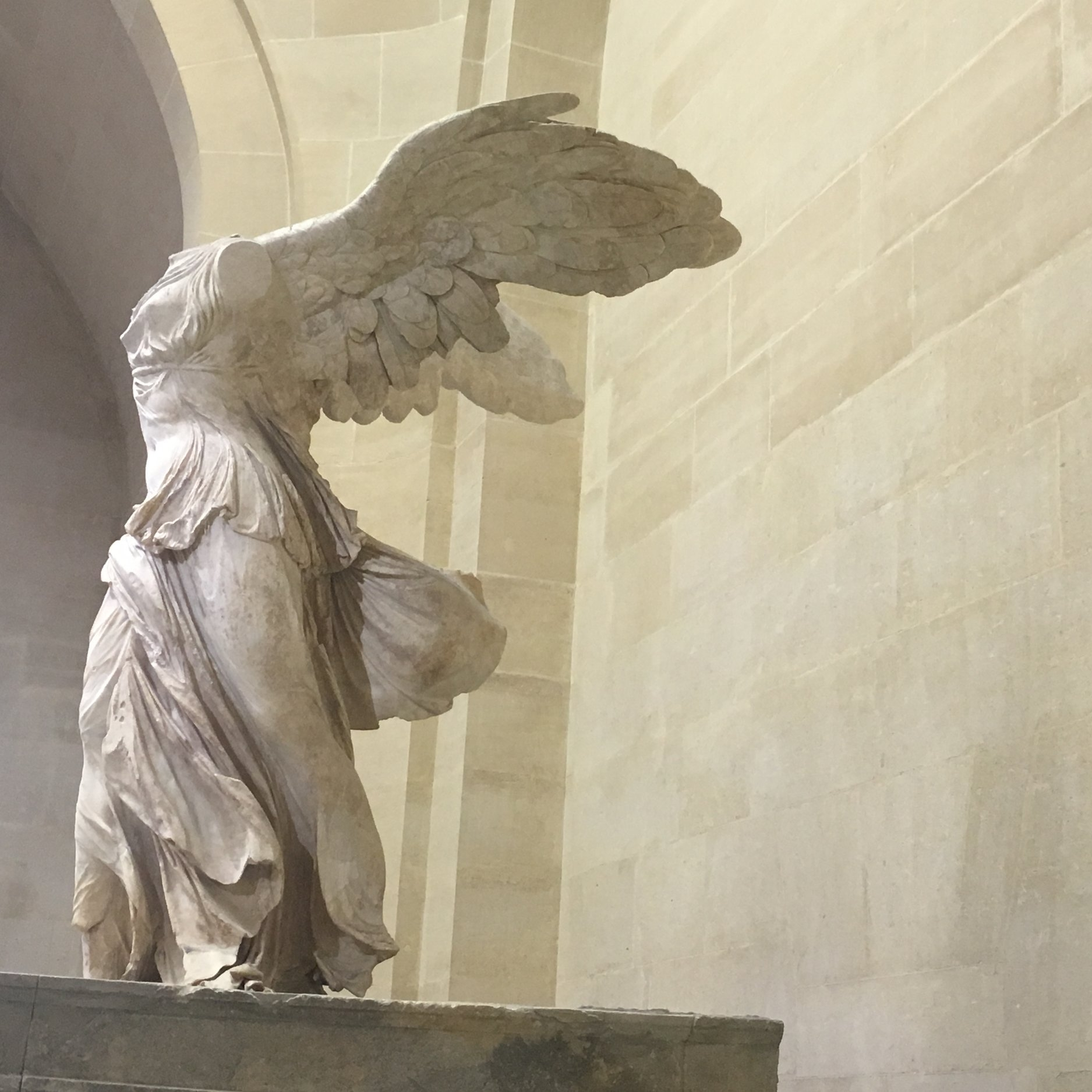 Winged Victory, The Louvre, Paris by The Doubtful Traveller