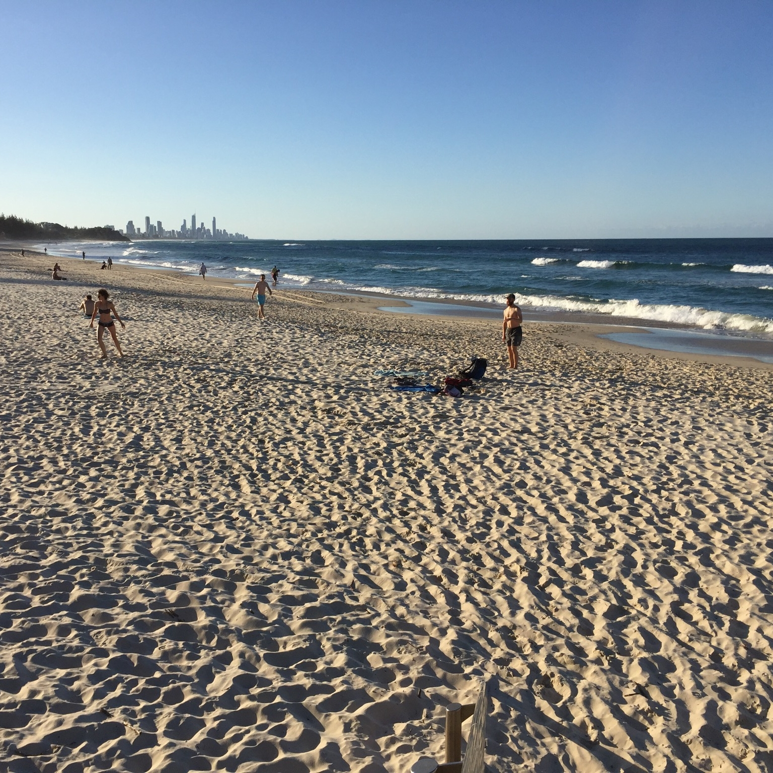 Beach at Burleigh Heads, Surfer's Paradise by Miles Dean for The Doubtful Traveller