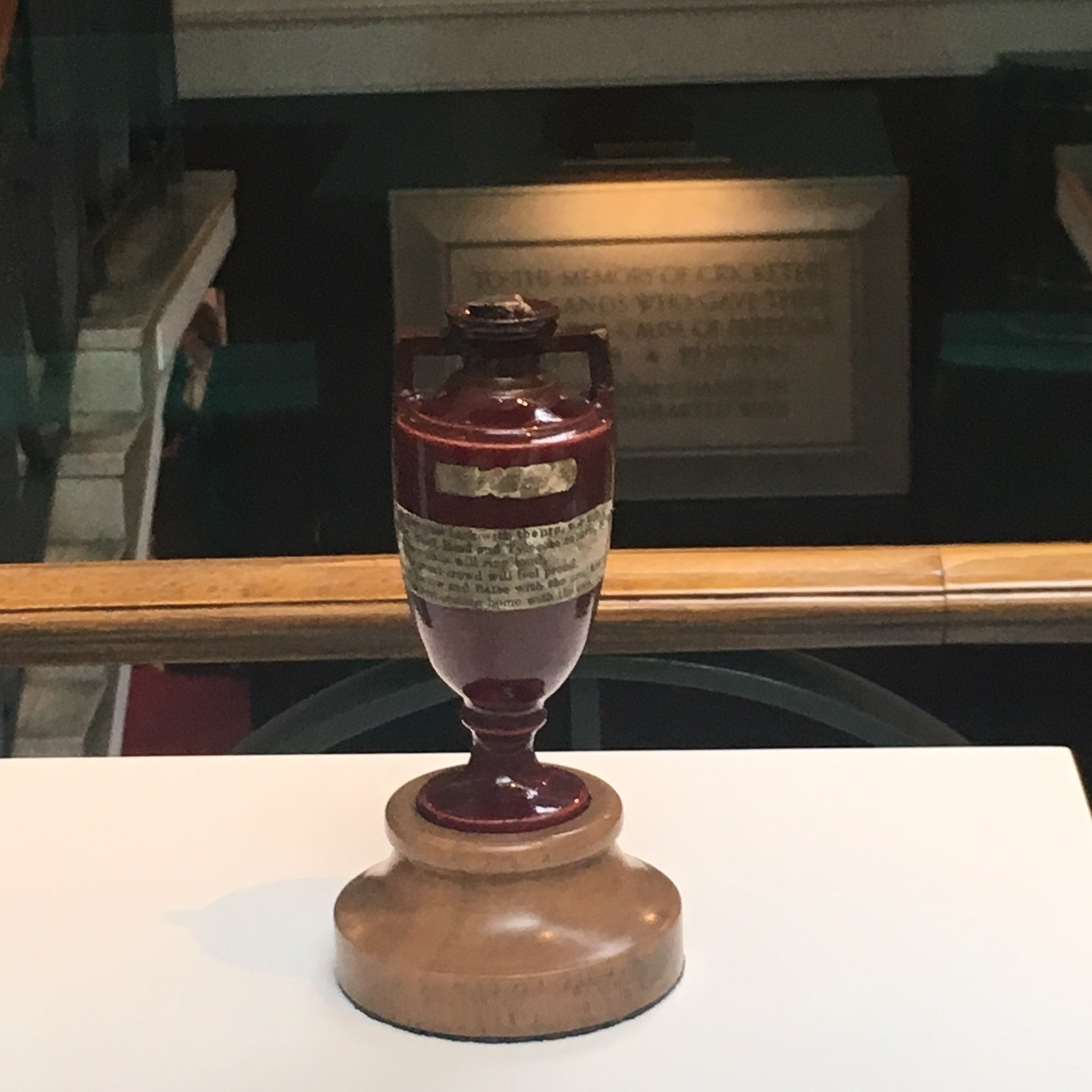 The Ashes trophy, London by The Doubtful Traveller