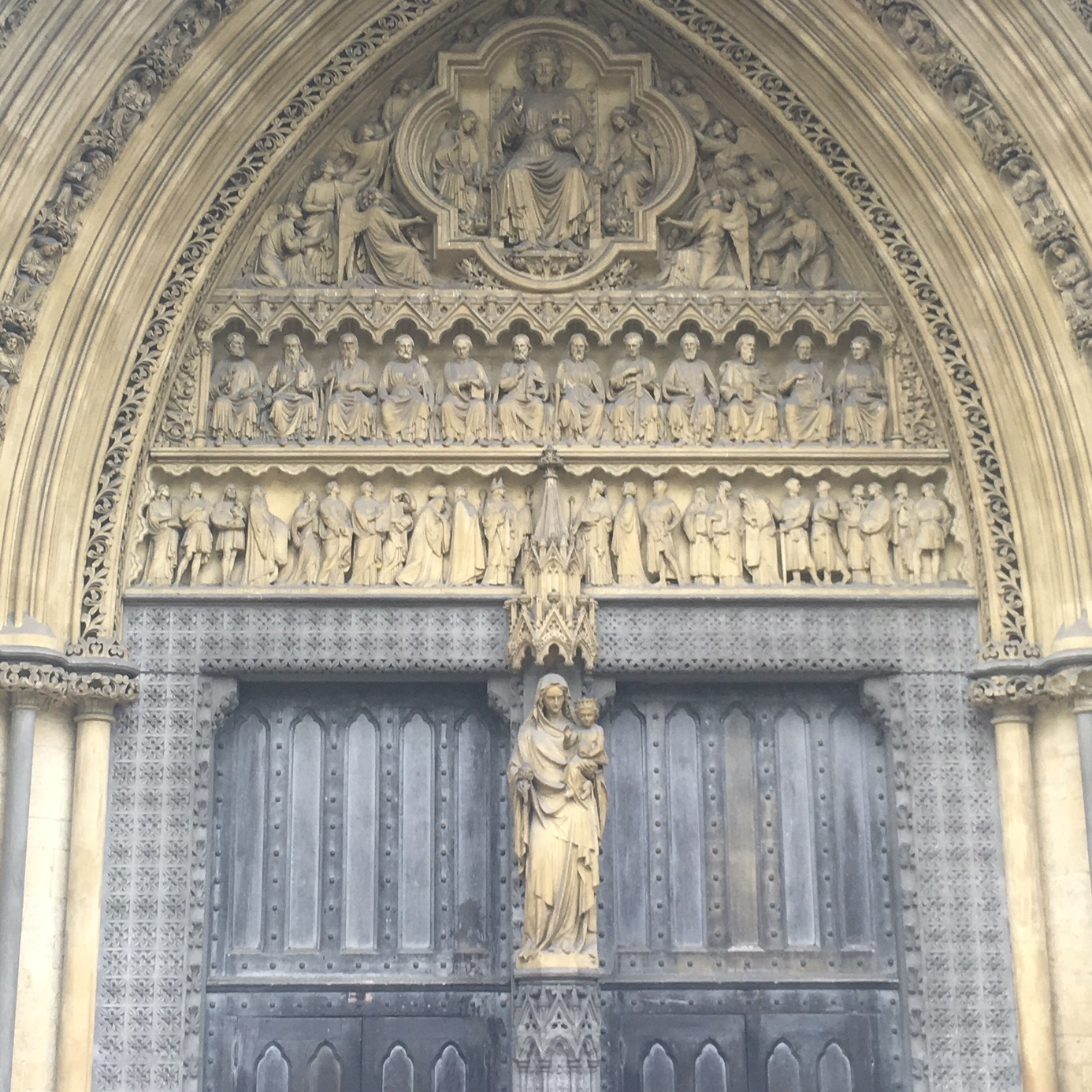Detail of Westminster Abbey, London by The Doubtful Traveller