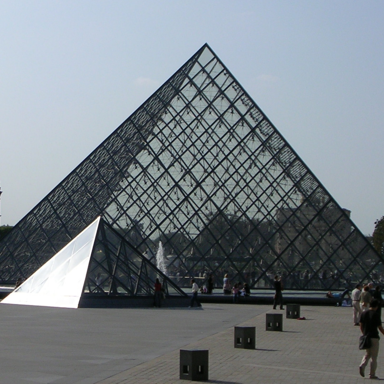 The Louvre pyramid by IM Pei, Paris by The Doubtful Traveller