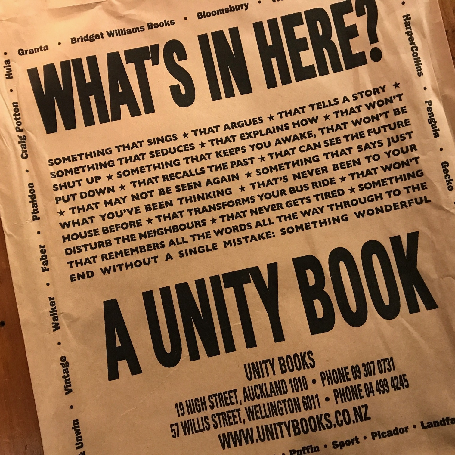 Unity Books, Wellington by The Doubtful Traveller