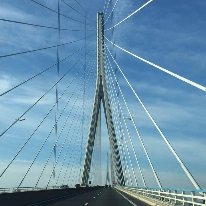 Bridge near Le Havre, France by Kevin Nansett for The Doubtful Traveller