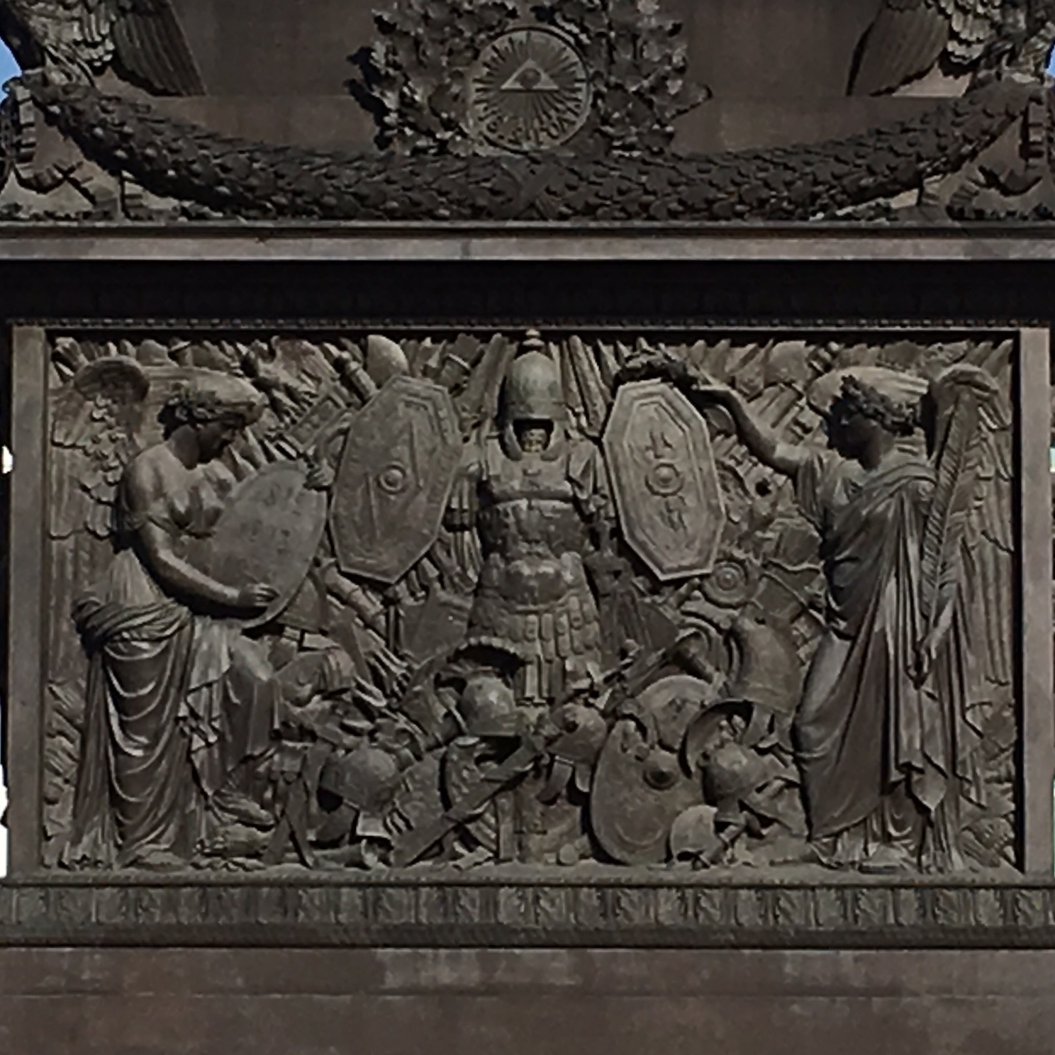 Details of the Alexander Column in Admiralty Square, St Petersburg by The Doubtful Traveller