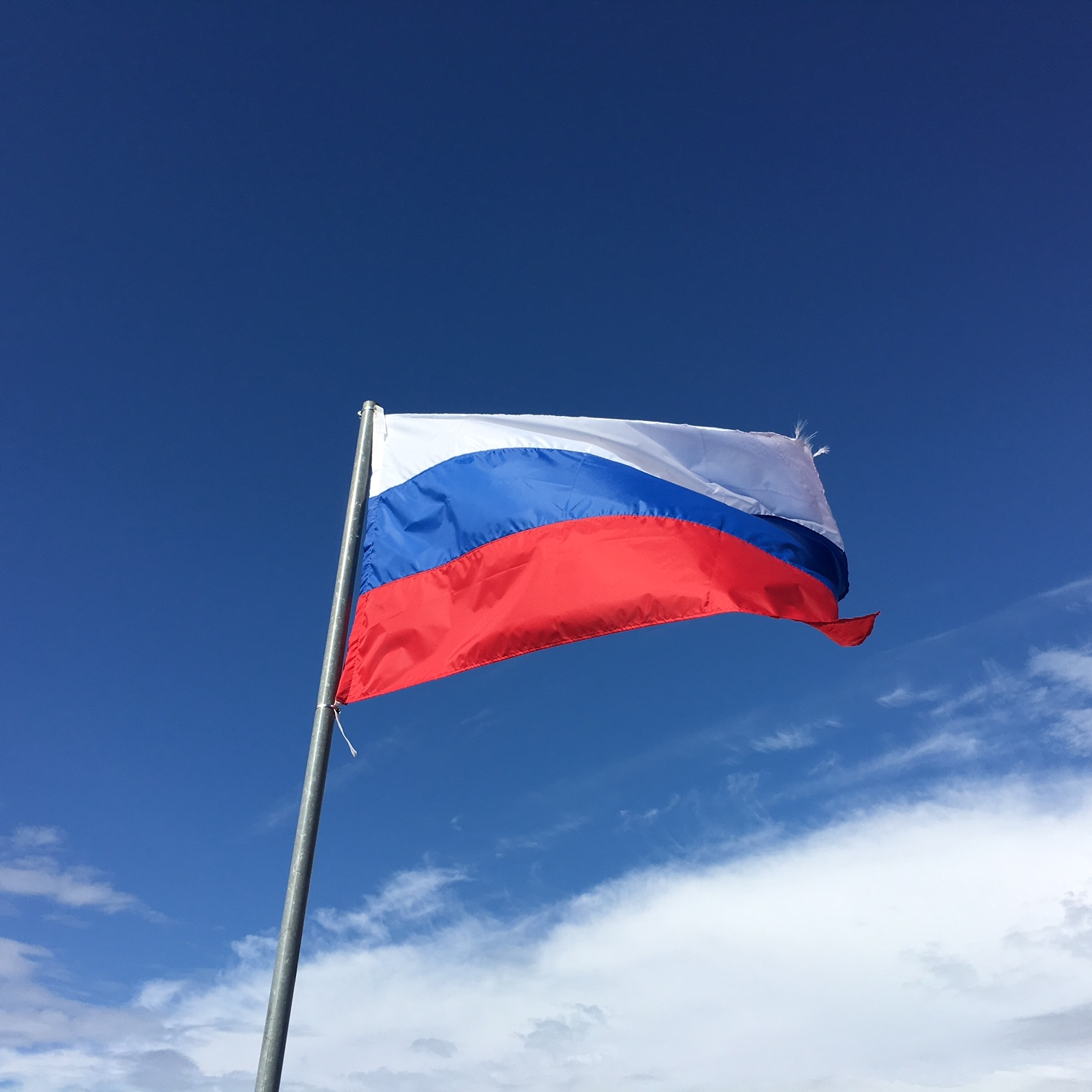 Russian flag, St Petersburg by The Doubtful Traveller