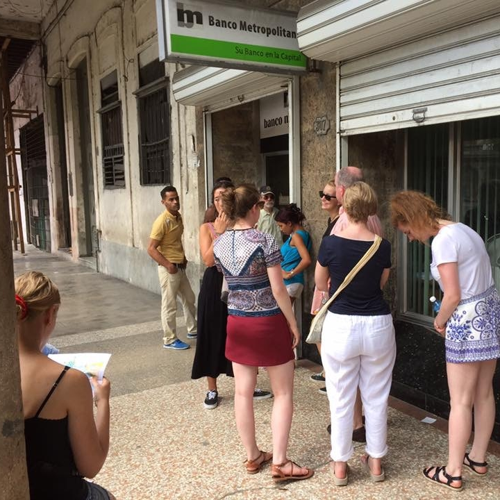 Queuing for a bank in Havana by Kevin Nansett for the Doubtful Traveller