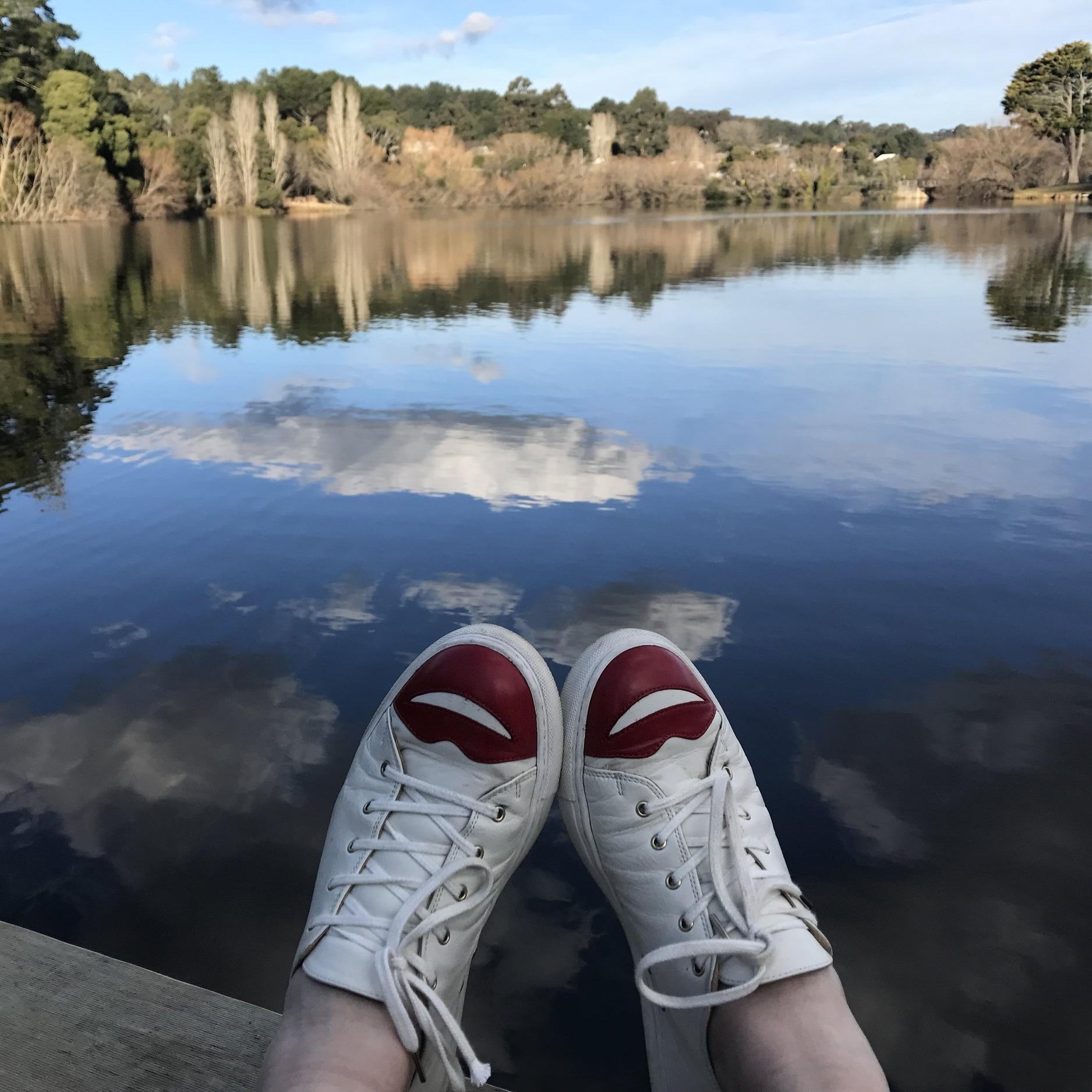 Side trip from Melbourne: Lake Daylesford by The Doubtful Traveller. Shoes by Charlotte Olympia