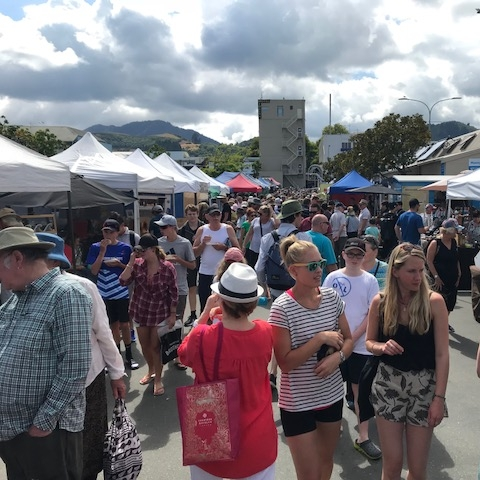 Saturday markets, Nelson. The Doubtful Traveller