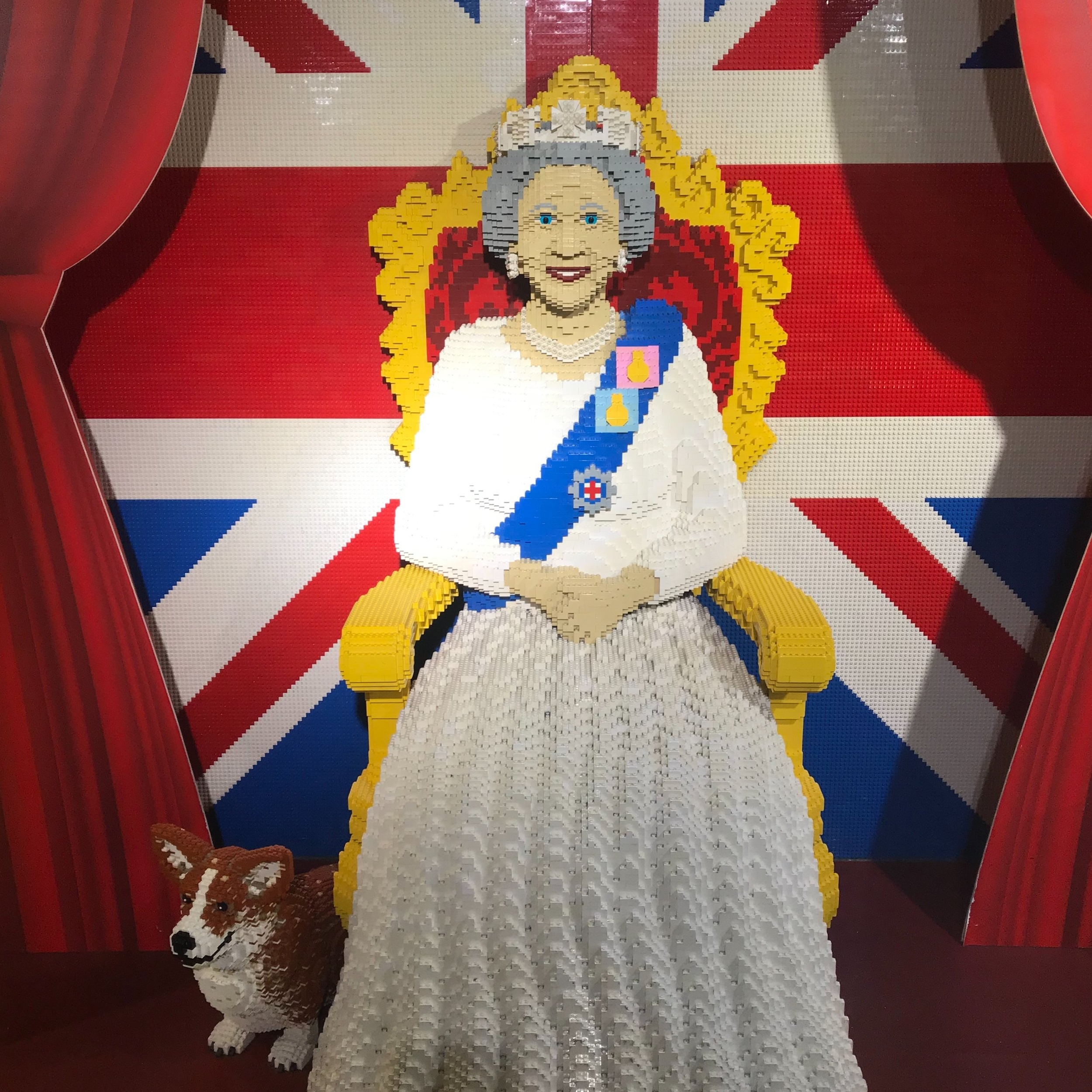Lego Queen from Hamley's, London. The Doubtful Traveller