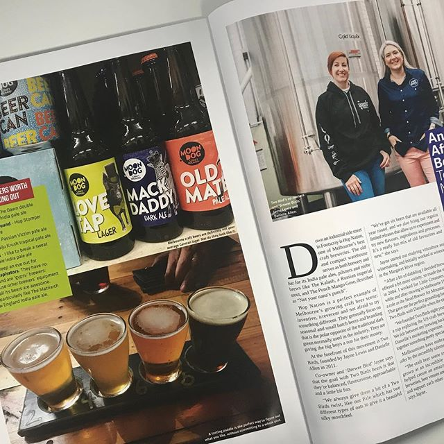 Loved profiling Melbourne's craft beer scene for the latest issue of WineNZ magazine. It was a tough job but someone had to do it 😊 #winenz #melbourne #craftbeer @twobirdsbrewing @winenzmagazine