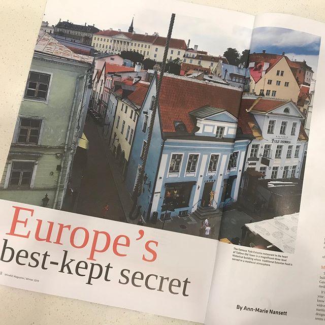 Check out the winter issue of WineNZ magazine and our profile of Tallinn in #estonia, Europe's best kept secret @winenzmagazine #tallinn #traveladvice #traveltips #travelideas #travel