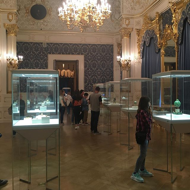 This is the gorgeous Faberge Museum in St Petersburg. Faberge is most famous for the priceless jewelled eggs he designed for Russia's imperial family. Not into the Tsars? No problem. Be amazed by the famous eggs instead. One even pops open to reveal a working model of a carriage. For more tips on what to do in St Petersburg: http://doubtfultraveller.com/st-petersburg #traveladvice #traveltips #travel #travelideas