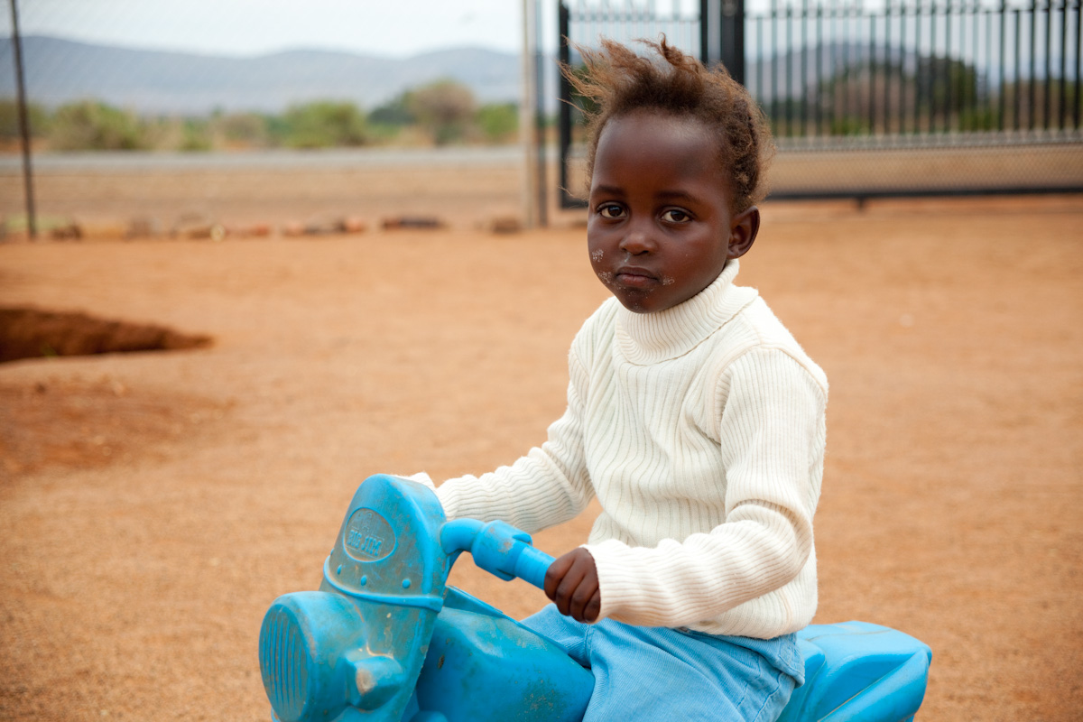In South Africa, CARE supports a facility that cares for HIV positive children and HIV orphans. I just love the look on this girl's face!