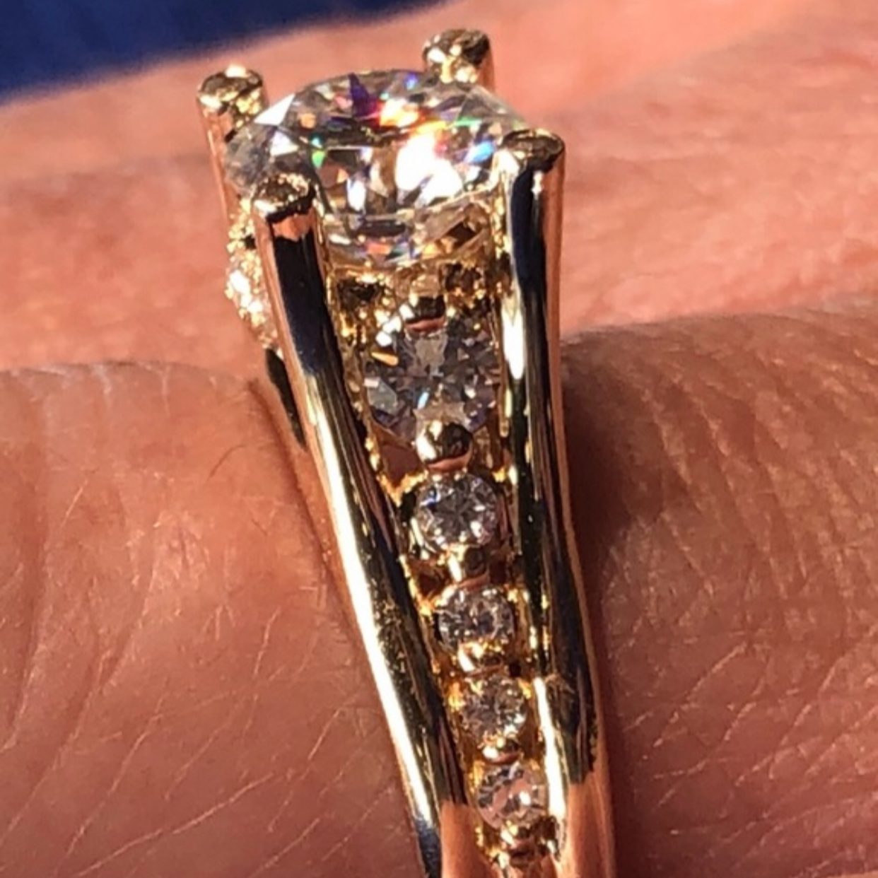 Donna's new custom ring