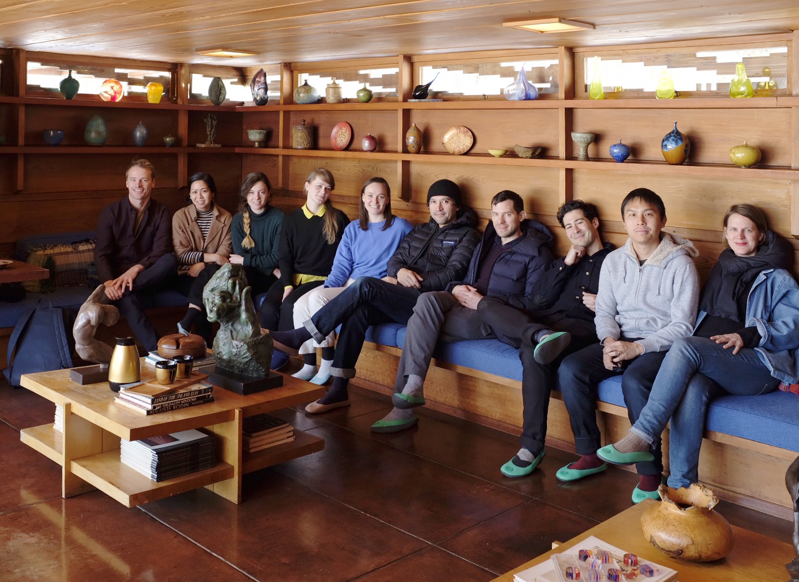 Workshop group at Frank Lloyd Wright Smith House