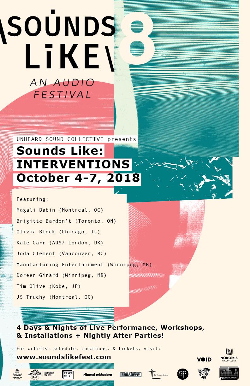 2018 poster/festival design/artwork by Lindsey Rewuski,  Ghost House Studio