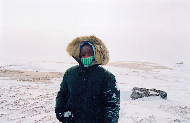 Me on the trail of polar bears.