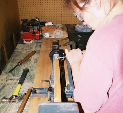Me and my friend, Lathe.