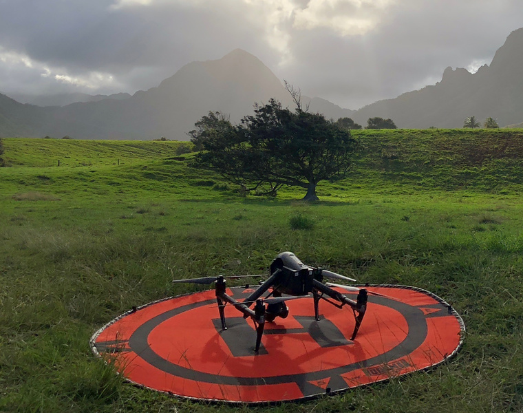 DJI Inspire 2 filming a 2019 Jeep Wrangler commercial in Honolulu, Hawaii