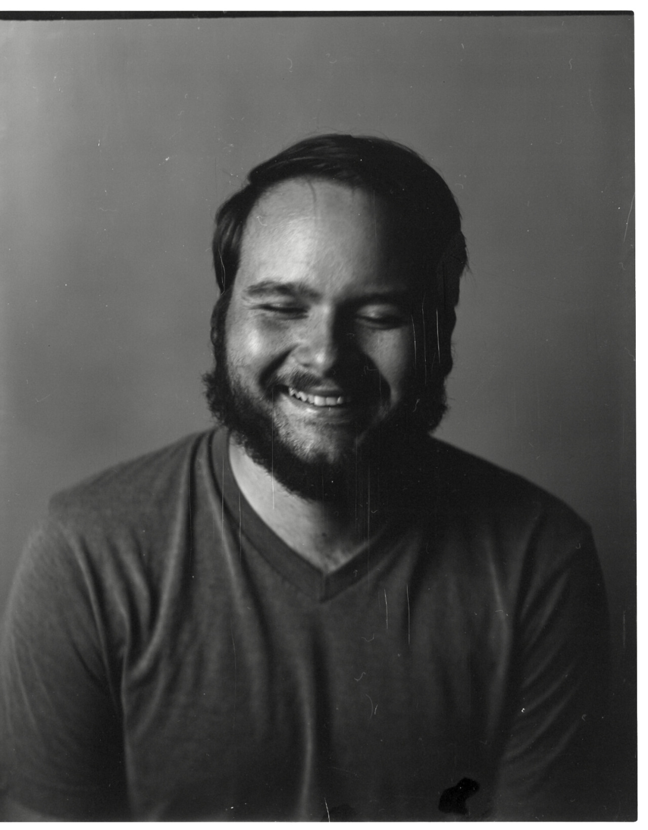 Nathan Kane  |  4x5   I love all the scratches in this image, and Nathan's smile.