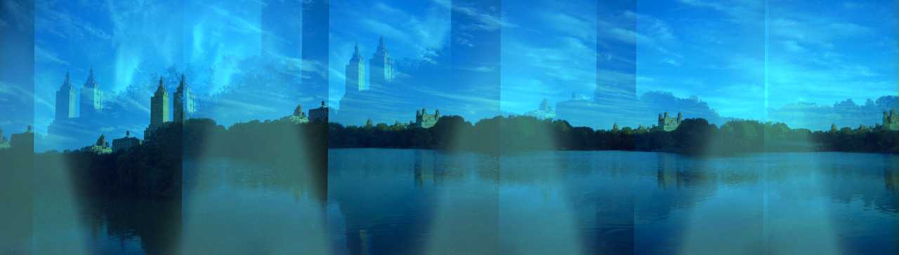 Holga Panorama  |  New York Central Park    *bummed about the light leak