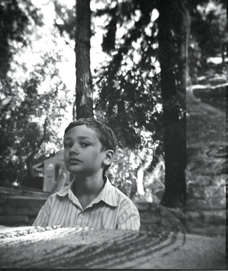 Xander at Griffith Park, Summer 2012.    Holga, Kodak Tri-X 400