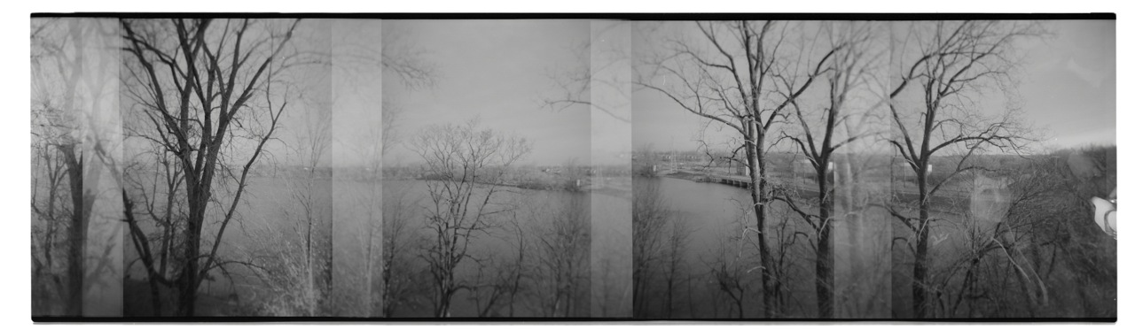 While trying to organize all my photo stuff I came across some Holga film from college. This was my view from my apartment in Ypsilanti. I had the best view in the whole building :) My friend, and crazy talented photographer,  Jami  is the ghost face on the far right.