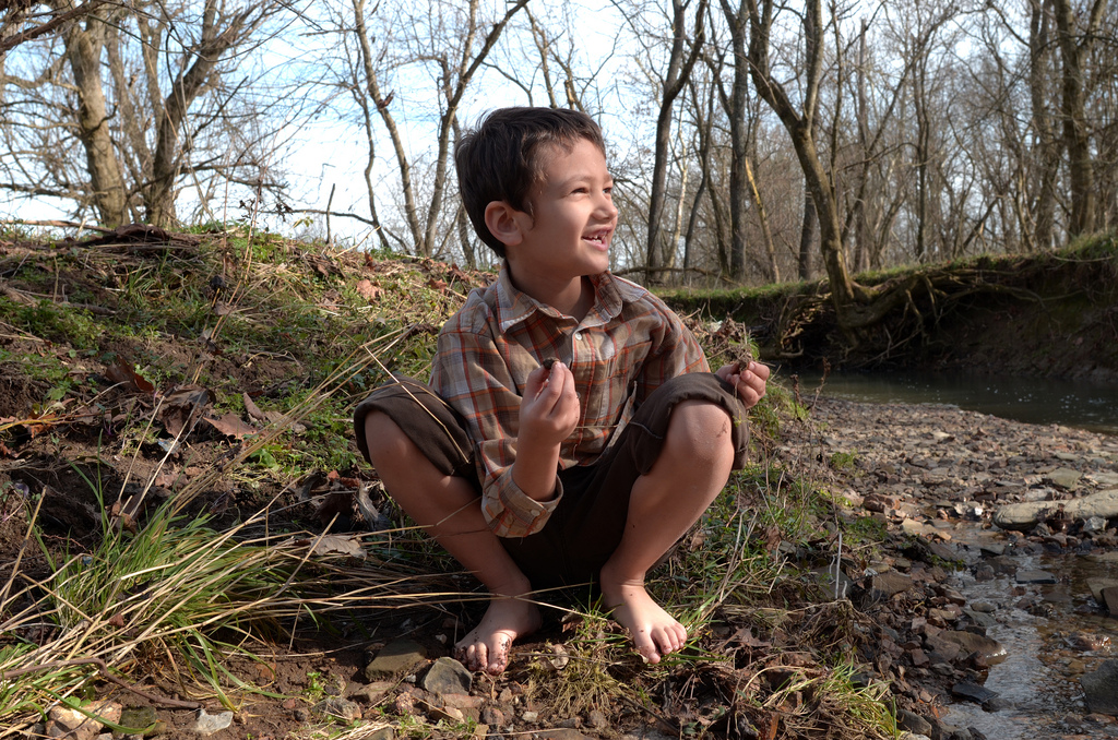 Xander and I went to Kentucky for Thanksgiving. This was taken on the one day it was not raining and cold. It was a beautiful day, warm enough for Xander to run around in the creek without his shoes. We hung out with the dogs, searched for fossils and tiny water creatures and got super muddy feet! After cleaning up we then traveled into town to have Thanksgiving dinner with my Mom's side of the family. It was a great day.