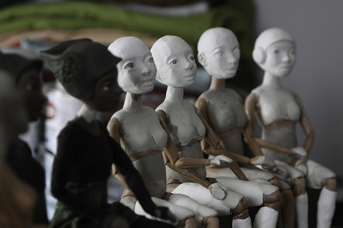 Ruth's dolls in progress  (by  ericarhiannon )