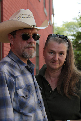 Ypsi Project: Ray Quiel & Laurie Walker (via  jami.carlson )   Ray has called Ypsi home for 36 years. The director of EMU's nationally renowned forensic team and registered domestic partner of the lovely and talented Laurie Lee Walker.   Ray also loves horses (because horses are awesome..my thoughts not his ;))   Laurie has lived in Ypsi since 1977 when she arrived here as a freshman at EMU. She raised both of her daughters here, Emily (now 31) and Amanda (now almost 30). She teaches for both EMU and Ypsilanti Public Schools. She loves the honest, hardworking and unpretentious people of Ypsi.