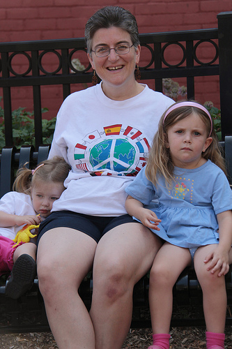 Ypsi Project: Anne (via  jami.carlson )   Anne Hogart with Kasey Gillman (3 years old) and Cassidy Gillman (2 years old).
