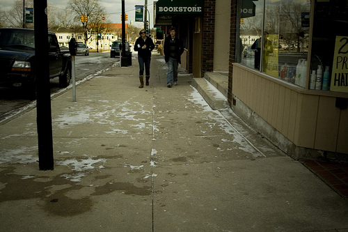 Ypsi Project : Strangers on Cross Street (via  ericarhiannon )   I'm learning that I need to be careful when it comes to getting busy and not taking the time to snap a YP pic…that was what happened yesterday and so today I've decided to take 4 pics to make up for the 2 that I missed yesterday. My apologies if these are a bore, but they are taken in Ypsi so they totally count….