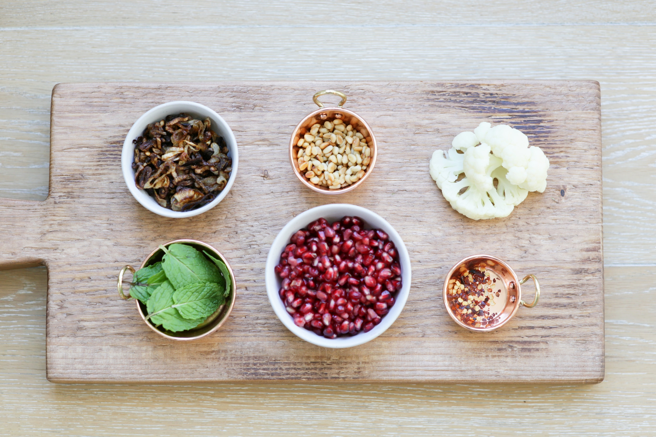 Food Photography of PAMELA SALZMAN'S STOVETOP CAULIFLOWER WITH POMEGRANATE MOLASSES