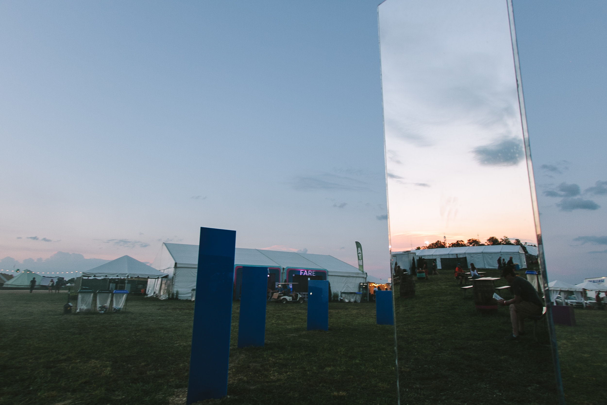 Finished installation at sunset at Bonnaroo
